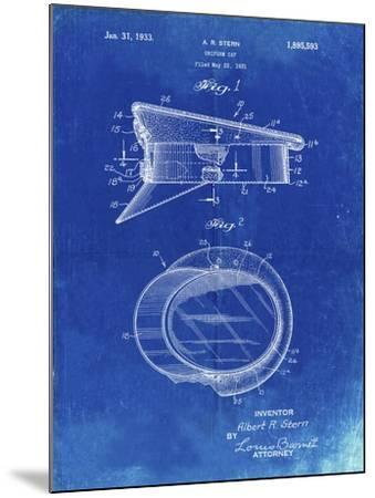 PP993-Faded Blueprint Police Hat 1933 Patent Poster-Cole Borders-Mounted Giclee Print