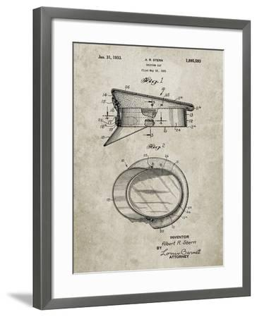 PP993-Sandstone Police Hat 1933 Patent Poster-Cole Borders-Framed Giclee Print