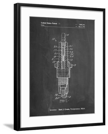 PP1051-Chalkboard Spark Plug Patent Poster-Cole Borders-Framed Giclee Print