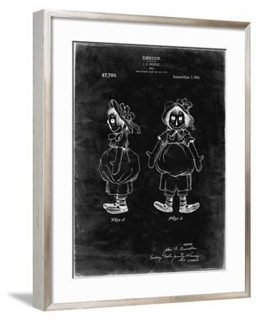 PP1005-Black Grunge Rag Doll Poster-Cole Borders-Framed Giclee Print