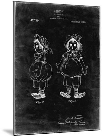 PP1005-Black Grunge Rag Doll Poster-Cole Borders-Mounted Giclee Print