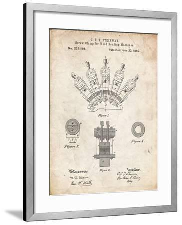 PP1031-Vintage Parchment Screw Clamp 1880  Patent Poster-Cole Borders-Framed Giclee Print