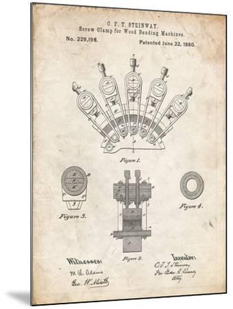 PP1031-Vintage Parchment Screw Clamp 1880  Patent Poster-Cole Borders-Mounted Giclee Print