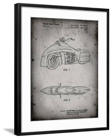 PP1015-Faded Grey Robin Motorcycle Patent Poster-Cole Borders-Framed Giclee Print