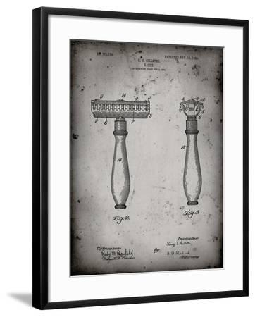 PP1026-Faded Grey Safety Razor Patent Poster-Cole Borders-Framed Giclee Print