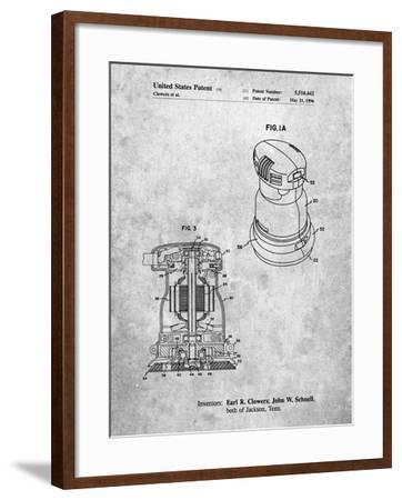PP998-Slate Porter Cable Palm Grip Sander Patent Poster-Cole Borders-Framed Giclee Print