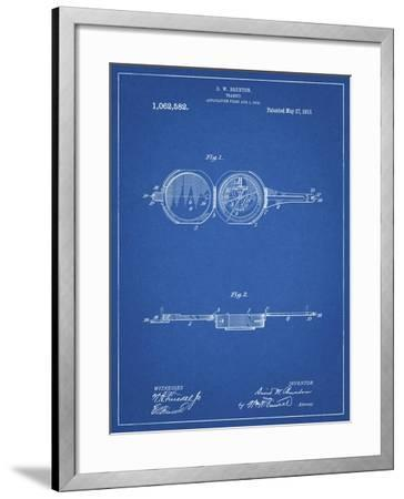 PP992-Blueprint Pocket Transit Compass 1919 Patent Poster-Cole Borders-Framed Giclee Print