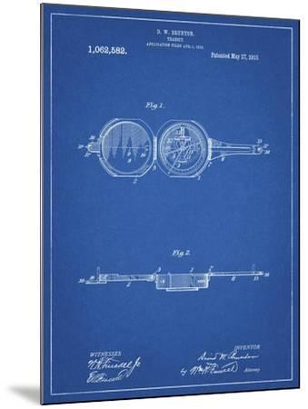 PP992-Blueprint Pocket Transit Compass 1919 Patent Poster-Cole Borders-Mounted Giclee Print