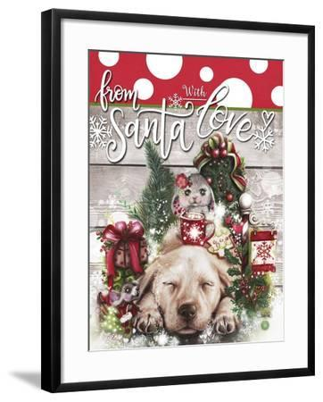 Dreaming of Christmas - From Santa with Love-Sheena Pike Art And Illustration-Framed Giclee Print