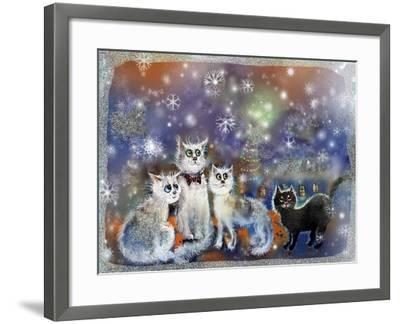 Christmas Cats-RUNA-Framed Giclee Print