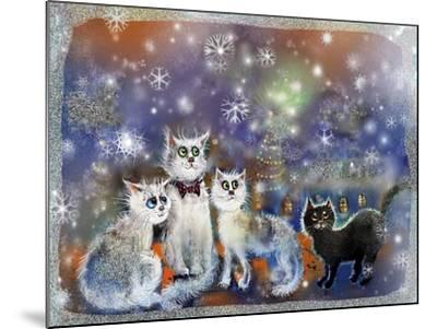 Christmas Cats-RUNA-Mounted Giclee Print