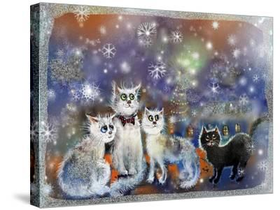 Christmas Cats-RUNA-Stretched Canvas Print