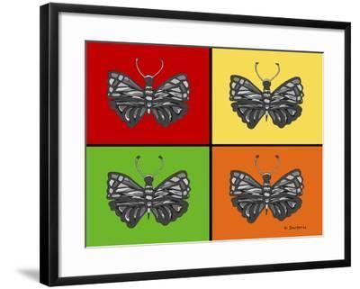 Titled Butterflies-Sartoris ART-Framed Giclee Print