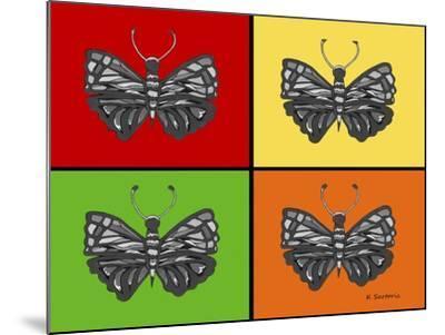 Titled Butterflies-Sartoris ART-Mounted Giclee Print