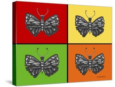 Titled Butterflies-Sartoris ART-Stretched Canvas Print