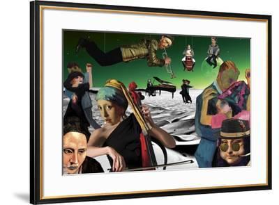 Desert Dance (Green) Kite-Aberrant Art-Framed Giclee Print