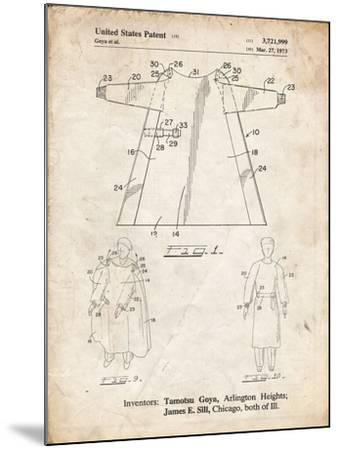 PP1074-Vintage Parchment Surgical Gown Patent Print-Cole Borders-Mounted Giclee Print
