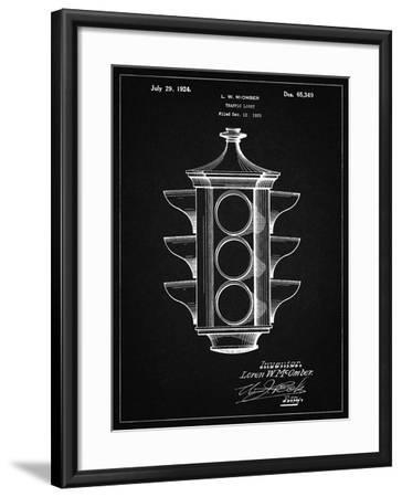 PP1109-Vintage Black Traffic Light 1923 Patent Poster-Cole Borders-Framed Giclee Print