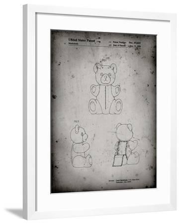 PP1085-Faded Grey Teddy Bear Poster-Cole Borders-Framed Giclee Print