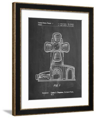 PP1108-Chalkboard Toy Windmill Poster-Cole Borders-Framed Giclee Print