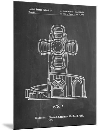PP1108-Chalkboard Toy Windmill Poster-Cole Borders-Mounted Giclee Print