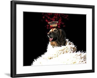 Royal Love Pup - Golden Retriever-Tina Lavoie-Framed Giclee Print