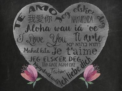 International I Love You-Tina Lavoie-Framed Giclee Print