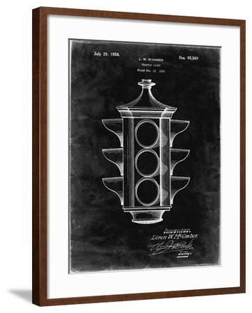 PP1109-Black Grunge Traffic Light 1923 Patent Poster-Cole Borders-Framed Giclee Print