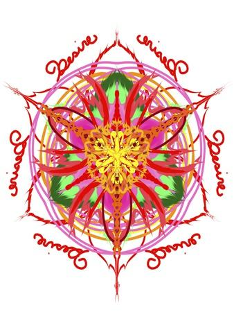 Desire Mandala-Stephanie Analah-Framed Giclee Print