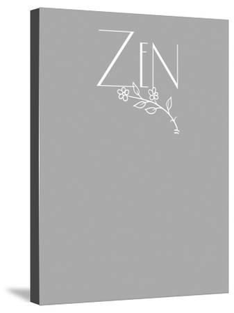 Zen tee-Tina Lavoie-Stretched Canvas Print