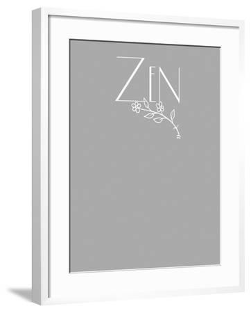 Zen tee-Tina Lavoie-Framed Giclee Print