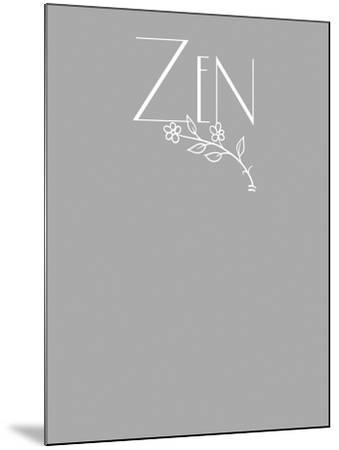 Zen tee-Tina Lavoie-Mounted Giclee Print