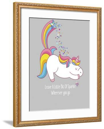 Leave A Little Bit Of Sparkle Tee-Tina Lavoie-Framed Giclee Print