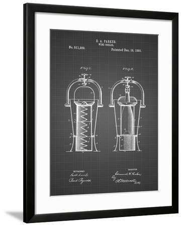 PP1138-Black Grid Wine Cooler 1893 Patent Poster-Cole Borders-Framed Giclee Print