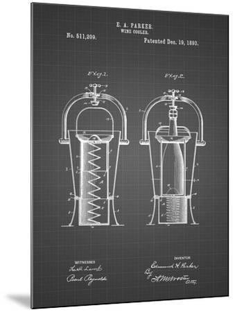 PP1138-Black Grid Wine Cooler 1893 Patent Poster-Cole Borders-Mounted Giclee Print