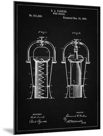 PP1138-Vintage Black Wine Cooler 1893 Patent Poster-Cole Borders-Mounted Giclee Print