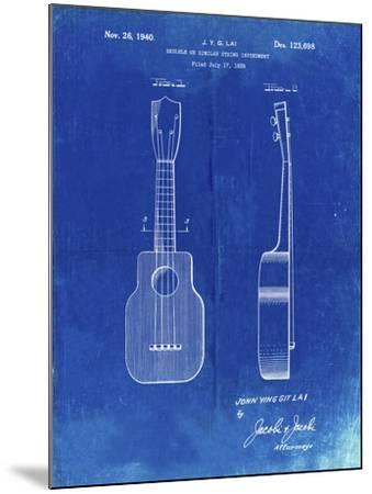 PP1117-Faded Blueprint Ukulele Patent Poster-Cole Borders-Mounted Giclee Print