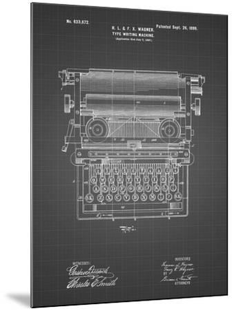 PP1118-Black Grid Underwood Typewriter Patent Poster-Cole Borders-Mounted Giclee Print