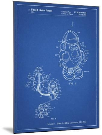 PP123- Blueprint Mr. Potato Head Patent Poster-Cole Borders-Mounted Giclee Print