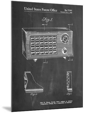 PP1126-Chalkboard Vintage Table Radio Patent Poster-Cole Borders-Mounted Giclee Print