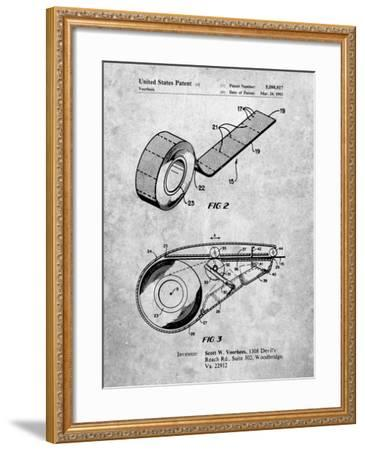 PP1133-Slate White Out Tape Patent Poster-Cole Borders-Framed Giclee Print