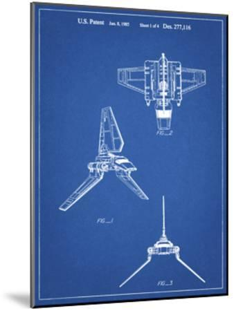 PP100-Blueprint Star Wars Lambda Class T-4a Imperial Shuttle Patent Poster-Cole Borders-Mounted Giclee Print