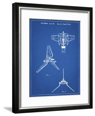 PP100-Blueprint Star Wars Lambda Class T-4a Imperial Shuttle Patent Poster-Cole Borders-Framed Giclee Print