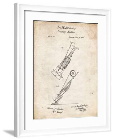 PP1121-Vintage Parchment Vaccuum Cleaner Patent-Cole Borders-Framed Giclee Print