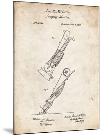 PP1121-Vintage Parchment Vaccuum Cleaner Patent-Cole Borders-Mounted Giclee Print