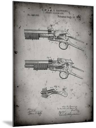 PP1135-Faded Grey Winchester Model 1890 Gun Patent-Cole Borders-Mounted Giclee Print