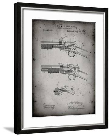 PP1135-Faded Grey Winchester Model 1890 Gun Patent-Cole Borders-Framed Giclee Print