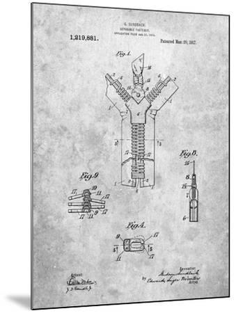 PP1143-Slate Zipper 1917 Patent Poster-Cole Borders-Mounted Giclee Print