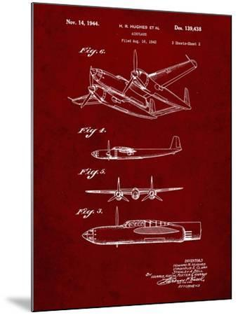 PP69-Burgundy Lockheed XP-58 Chain Lightning Poster-Cole Borders-Mounted Giclee Print