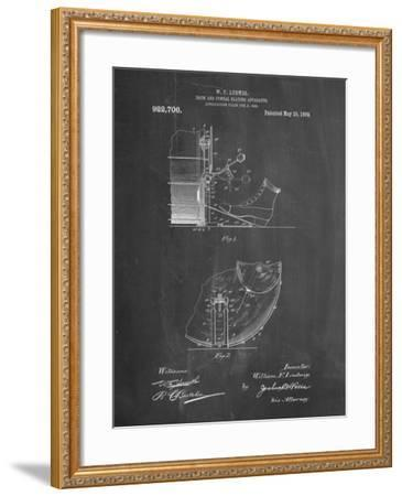 PP103-Chalkboard Ludwig Kickdrum and Cymbal Poster-Cole Borders-Framed Giclee Print